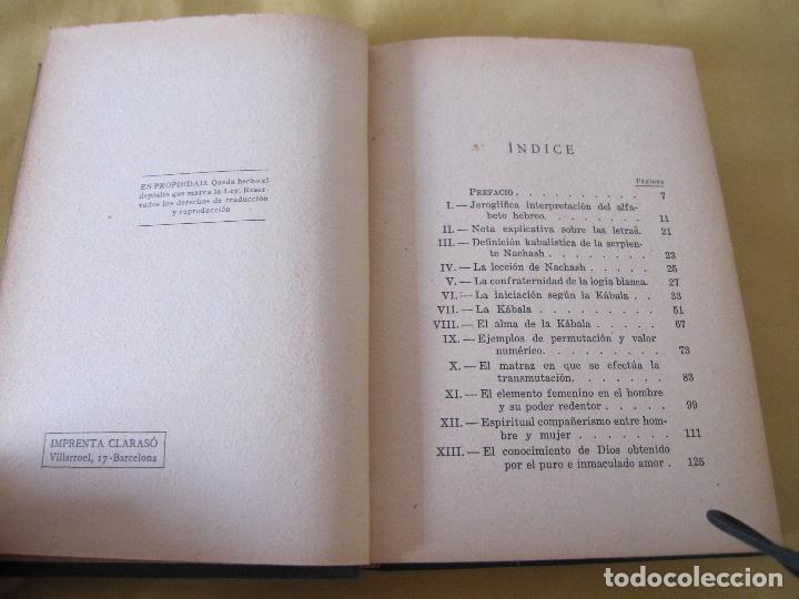 Libros antiguos: ELIAS GEWURZ. LOS MISTERIOS DE LA KÁBALA. ANTONIO ROCH EDITOR. IMPRENTA CLARASÓ. BARCELONA, - Foto 6 - 228127740