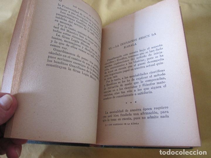 Libros antiguos: ELIAS GEWURZ. LOS MISTERIOS DE LA KÁBALA. ANTONIO ROCH EDITOR. IMPRENTA CLARASÓ. BARCELONA, - Foto 9 - 228127740