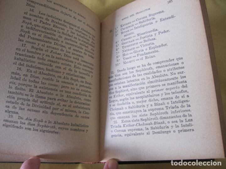 Libros antiguos: ELIAS GEWURZ. LOS MISTERIOS DE LA KÁBALA. ANTONIO ROCH EDITOR. IMPRENTA CLARASÓ. BARCELONA, - Foto 10 - 228127740