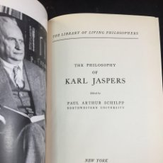 Libros antiguos: THE PHILOSOPHY OF KARL JASPERS PAUL ARTHUR SCHILPP EDITORIAL: TUDOR, 1957 INGLÉS.. Lote 229029980