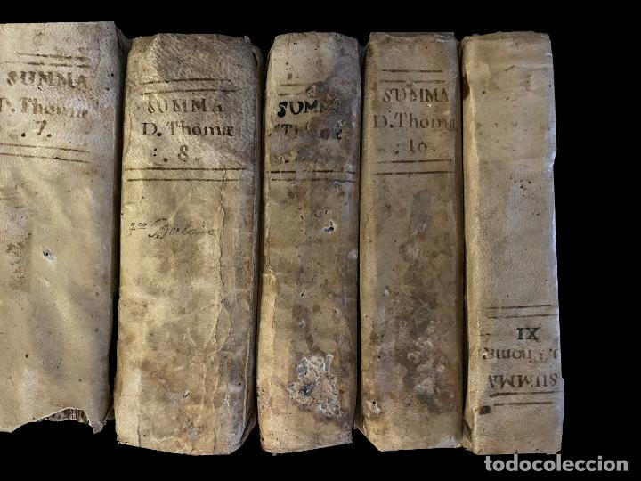 Libros antiguos: Summa teológica de Sto Tomás de Aquino, 1791 pergamino, tomos, I, III , IV, V VII, VIII, IX, X, XI - Foto 2 - 230057255
