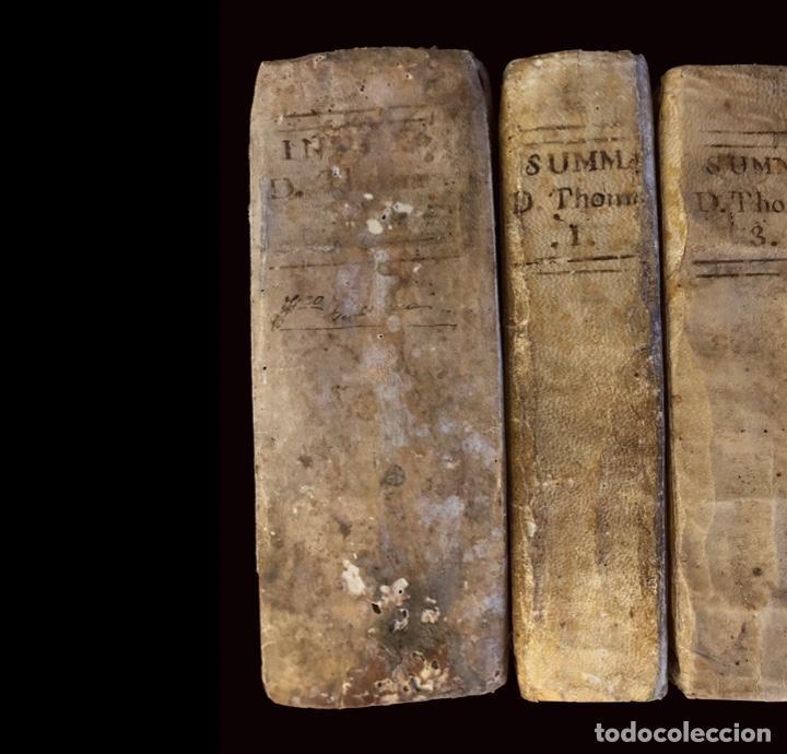 Libros antiguos: Summa teológica de Sto Tomás de Aquino, 1791 pergamino, tomos, I, III , IV, V VII, VIII, IX, X, XI - Foto 3 - 230057255