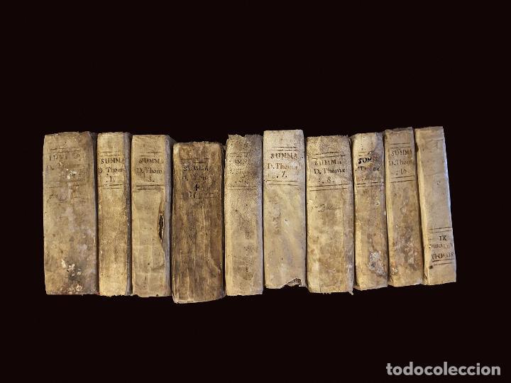 SUMMA TEOLÓGICA DE STO TOMÁS DE AQUINO, 1791 PERGAMINO, TOMOS, I, III , IV, V VII, VIII, IX, X, XI (Libros Antiguos, Raros y Curiosos - Pensamiento - Filosofía)