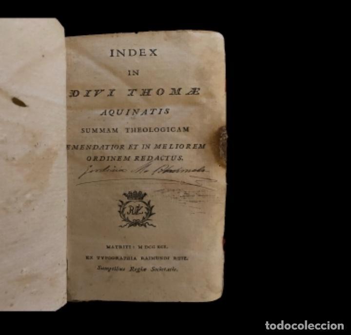 Libros antiguos: Summa teológica de Sto Tomás de Aquino, 1791 pergamino, tomos, I, III , IV, V VII, VIII, IX, X, XI - Foto 4 - 230057255