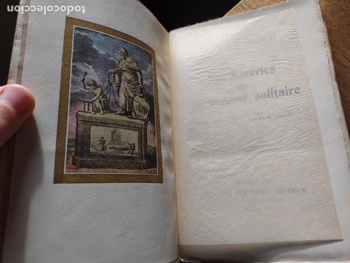 Libros antiguos: Very Rare. Les Reveries dun promeneur solitaire, Rousseau. Edition enrichie de trois portraits.1921 - Foto 2 - 232265210