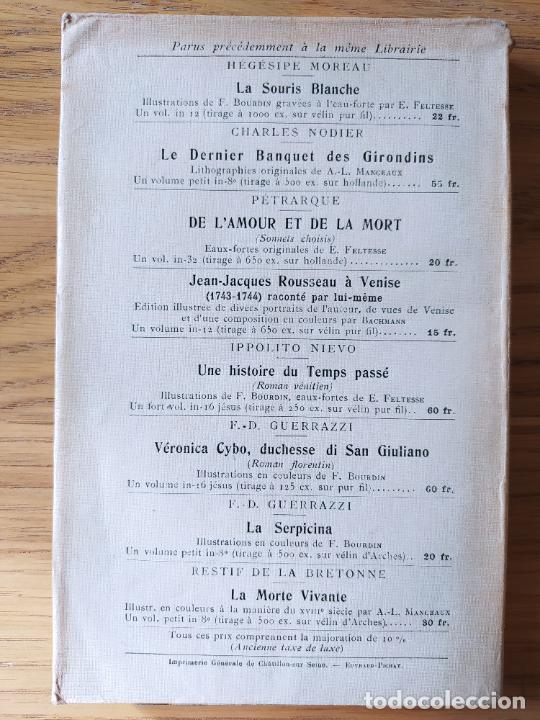 Libros antiguos: Very Rare. Les Reveries dun promeneur solitaire, Rousseau. Edition enrichie de trois portraits.1921 - Foto 4 - 232265210