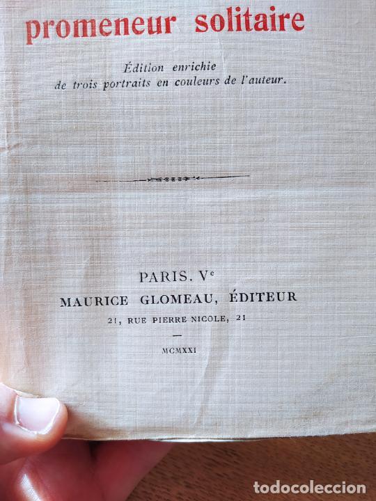 Libros antiguos: Very Rare. Les Reveries dun promeneur solitaire, Rousseau. Edition enrichie de trois portraits.1921 - Foto 8 - 232265210