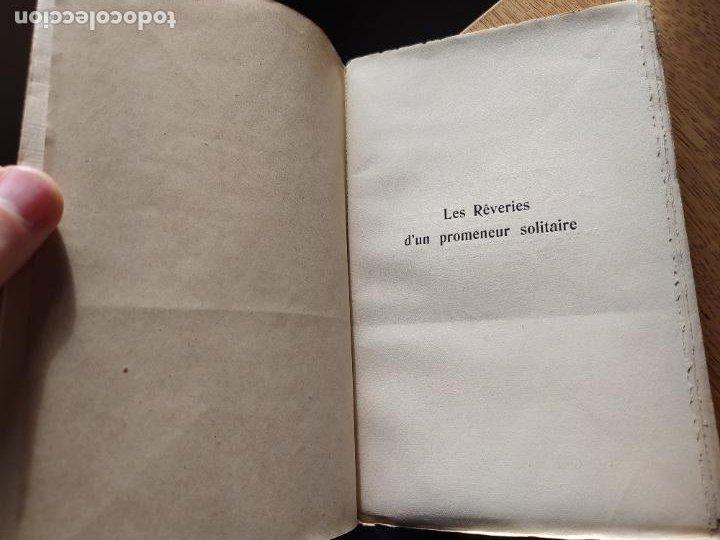 Libros antiguos: Very Rare. Les Reveries dun promeneur solitaire, Rousseau. Edition enrichie de trois portraits.1921 - Foto 11 - 232265210