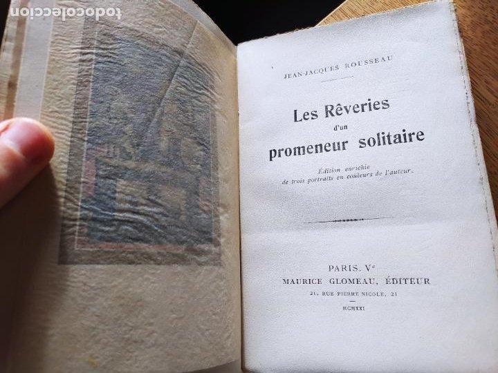 Libros antiguos: Very Rare. Les Reveries dun promeneur solitaire, Rousseau. Edition enrichie de trois portraits.1921 - Foto 14 - 232265210