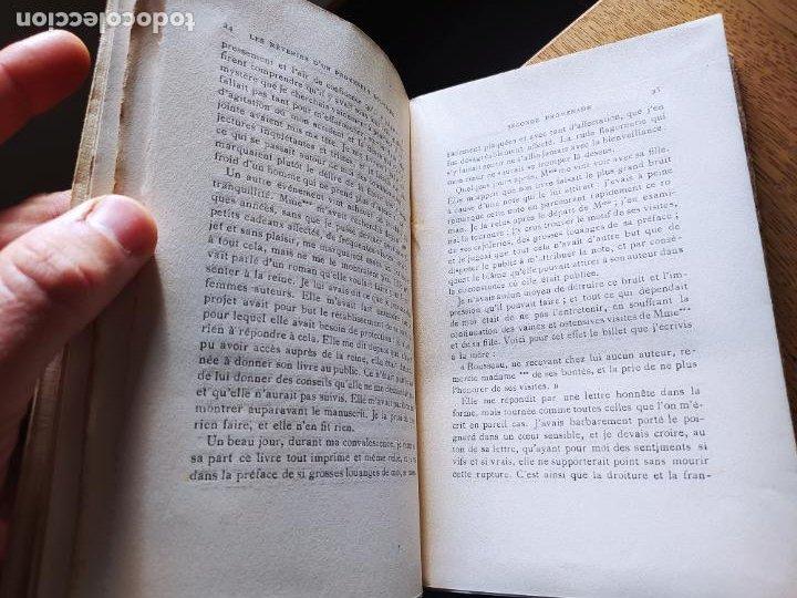 Libros antiguos: Very Rare. Les Reveries dun promeneur solitaire, Rousseau. Edition enrichie de trois portraits.1921 - Foto 16 - 232265210