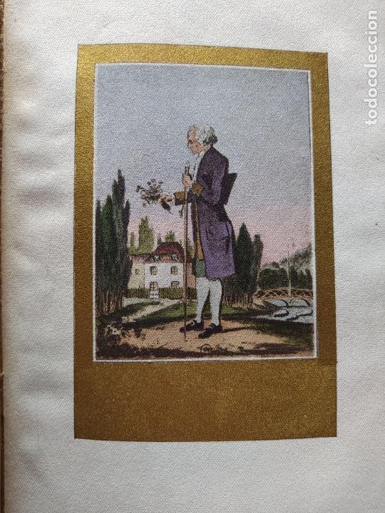 Libros antiguos: Very Rare. Les Reveries dun promeneur solitaire, Rousseau. Edition enrichie de trois portraits.1921 - Foto 19 - 232265210