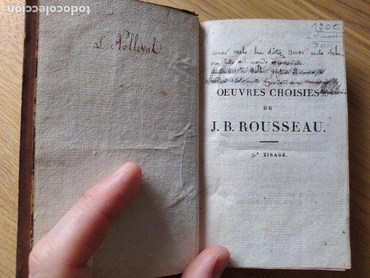 Libros antiguos: OEUVRES CHOISIES DE J. B. ROUSSEAU A L USAGE DES LYCEES, Publicado por MAME (1811) - Foto 8 - 232270360