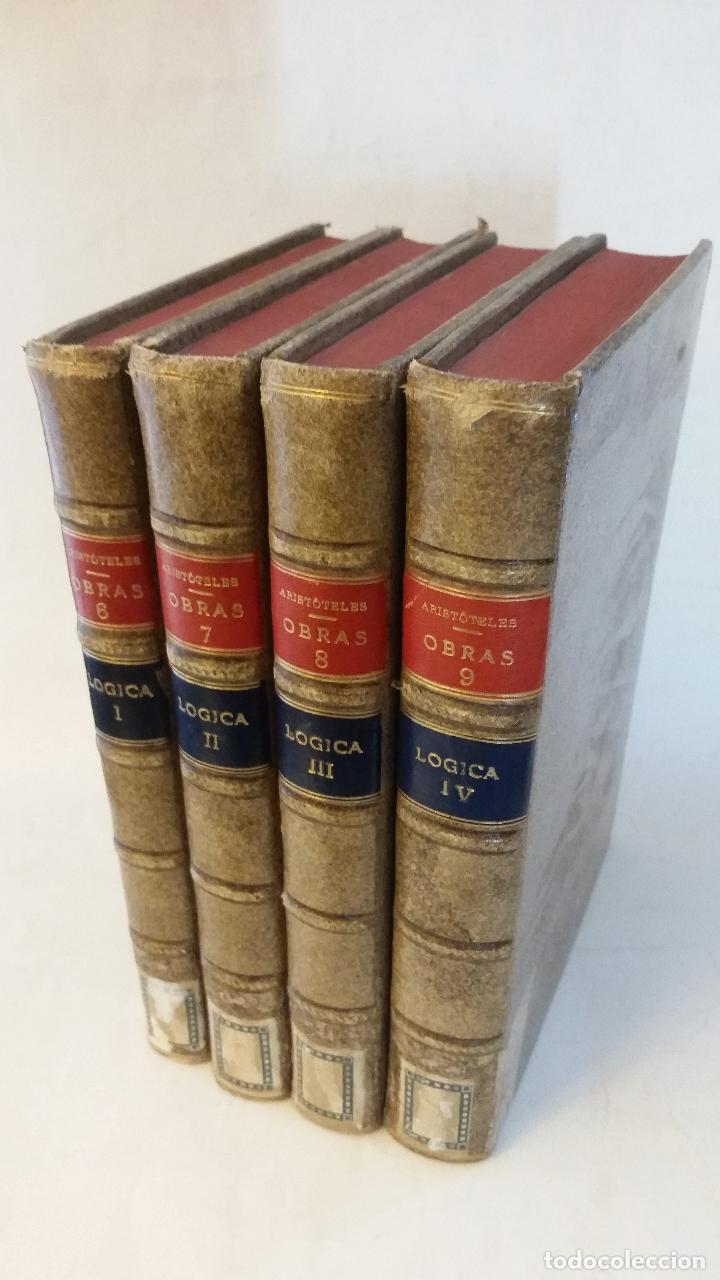 1874 - ARISTÓTELES - OBRAS TRADUCIDAS POR PATRICIO DE AZCÁRATE: LÓGICA 4 TOMOS (Libros Antiguos, Raros y Curiosos - Pensamiento - Filosofía)