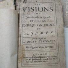 Libros antiguos: THE VISIONS OF QUEVEDO 1696. Lote 235119405