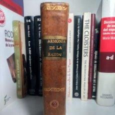 Libros antiguos: ARMONÍA DE LA RAZÓN Y LA RELIGIÓN - TEODORO DE ALMEYDA - TOMO II - 2ª EDICIÓN, 1807 - PLENA PIEL. Lote 239746445
