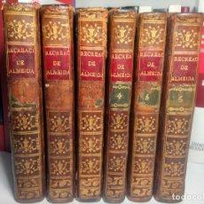Libros antiguos: RECREACIÓN FILOSÓFICA O DIÁLOGO SOBRE LA FILOSOFÍA NATURAL - ALMEIDA - 1792 - PLENA PIEL - 6 TOMOS. Lote 258072125