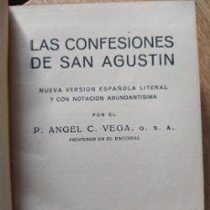 Livros antigos: LAS CONNFESIONES DE SAN AGUTIN, NUEVA VERSION LITERAL DE ANGEL VEGA,NUEVA BIBLIOTECA FILOSOFICA 1932. Lote 241632725