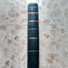 Libros antiguos: PHILOSOPHIA ELEMENTARIA - ZEPHYRINI GONZALEZ - ETHICAM ET HISTORIAM PHILOSOPHIAE - 1868 - MEDIA PIEL. Lote 243423270