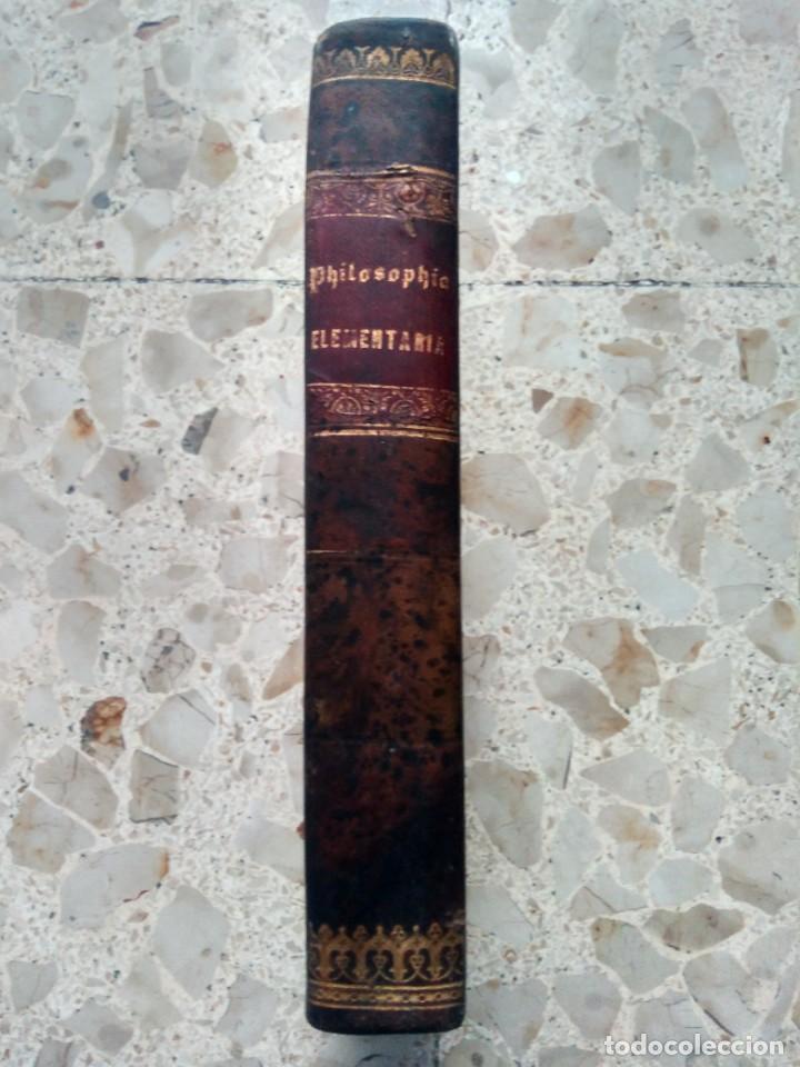PHILOSOPHIA ELEMENTARIA - ZEPHYRINI GONZALEZ - LOGICAM, PSYCHOLOGIAM, IDEALOGIAM - 1868 - PLENA PIEL (Libros Antiguos, Raros y Curiosos - Pensamiento - Filosofía)