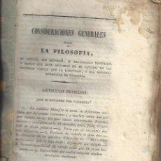 Libros antiguos: LOTE 3 LIBROS SOBRE FILOSOFIA.MITAD S. XIX APROX. ( PARTES DE UN COLECCIONABLE). Lote 243838825