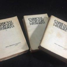 Libros antiguos: CURSO FILOSOFÍA METAFÍSICA GENERAL ONTOLOGÍA, CARDENAL MERCIER. MADRID 1935 - 3 TOMOS OBRA COMPLETA. Lote 244885865