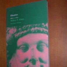 Livres anciens: DIONISIO - MITO Y CULTO / WALTER F. OTTO NARRATIVA. Lote 254079870