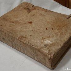 Libros antiguos: SUMMA PHILOSOPHICA-SANTO TOMÁS-ASTRONOMÍA, PERGAMINO CON 13 GRABADOS DESPLEGABLES. Lote 256043360