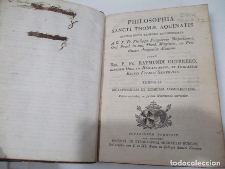 Libros antiguos: SANCTI THOME AQUINATIS Philisophia (Tomo II )(En latín) W6822 - Foto 2 - 259250935