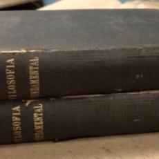 Libros antiguos: FILOSOFÍA FUNDAMENTAL POR DON JAIME BALMES (2 TOMOS). GARNIER HERMANOS LIBREROS EDITORES . Lote 164972554