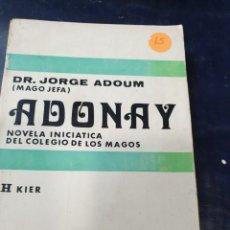 Libros antiguos: ADONAY DR, JORGE ADOUM. Lote 262551135