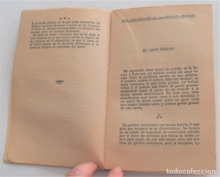Libros antiguos: AMOR Y LIBERTAD (PALABRAS DE UN HOMBRE LIBRE) - LEÓN TOLSTOY - CASA EDITORIAL MAUCCI - Foto 5 - 262584855