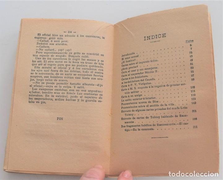 Libros antiguos: AMOR Y LIBERTAD (PALABRAS DE UN HOMBRE LIBRE) - LEÓN TOLSTOY - CASA EDITORIAL MAUCCI - Foto 8 - 262584855