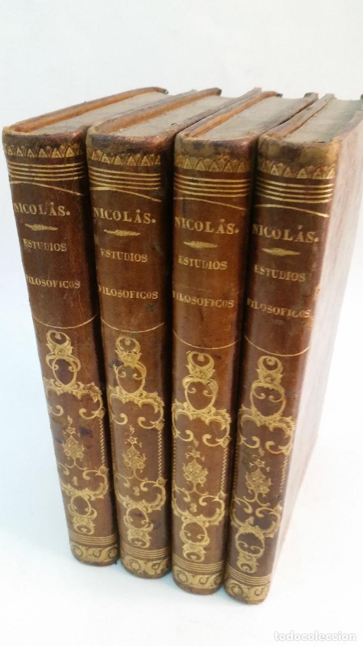 Libros antiguos: 1851 - AUGUSTO NICOLÁS - ESTUDIOS FILOSÓFICOS SOBRE EL CRISTIANISMO - 4 tomos (obra completa) - Foto 2 - 262622640