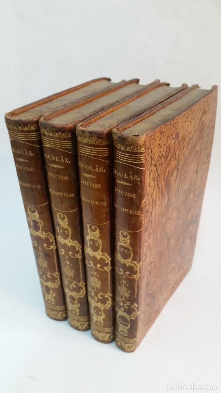 1851 - AUGUSTO NICOLÁS - ESTUDIOS FILOSÓFICOS SOBRE EL CRISTIANISMO - 4 TOMOS (OBRA COMPLETA) (Libros Antiguos, Raros y Curiosos - Pensamiento - Filosofía)