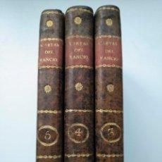 Libros antiguos: 1825, 3 TOMOS: CARTAS CRÍTICAS /FILOSÓFICAS QUE ESCRIBIÓ EL FILÓSOFO RANCIO FRANCISCO ALVARADO 3 4 5. Lote 262856105