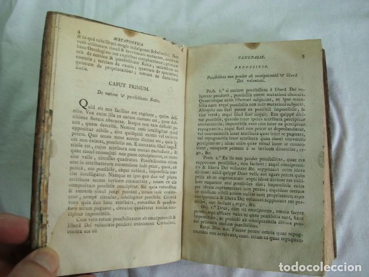 Libros antiguos: 1820 - INSTITUTIONES PHILOSOPHICAE - METAPHYSICA - LIBRO ANTIGUO - Foto 8 - 263126625