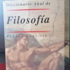 Libros antiguos: DICCIONARIO AKAL DE FILOSOFIA PERFECTO ESTADO. Lote 264529934