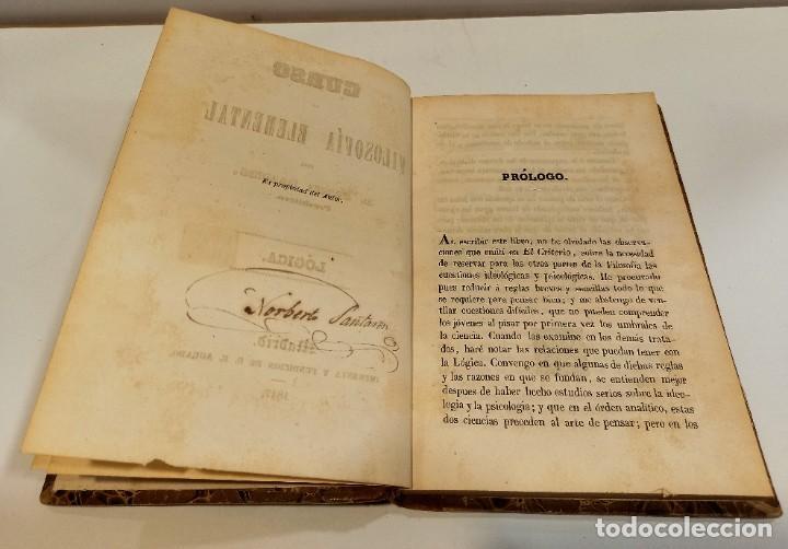 Libros antiguos: CURSO DE FILOSOFIA ELEMENTAL - D. JAIME BALMES. Madrid 1847 (4 tomos). LÓGICA.METAFISICA. ETICA. Hº - Foto 9 - 270914553