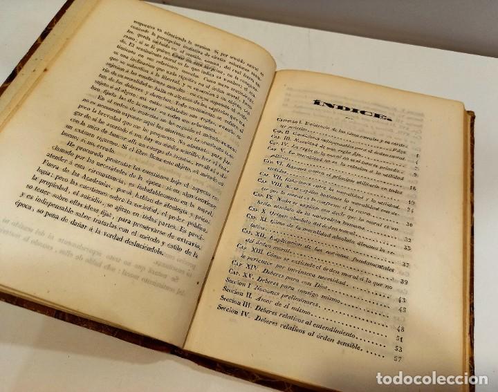 Libros antiguos: CURSO DE FILOSOFIA ELEMENTAL - D. JAIME BALMES. Madrid 1847 (4 tomos). LÓGICA.METAFISICA. ETICA. Hº - Foto 19 - 270914553