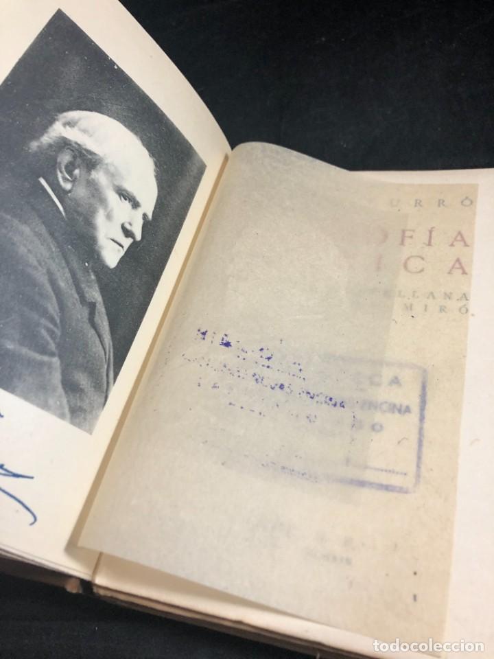 Libros antiguos: FILOSOFIA CRITICA. Dr. R. TURRO. PRIMERA EDICION CASTELLANA 1919 - Foto 3 - 270931483