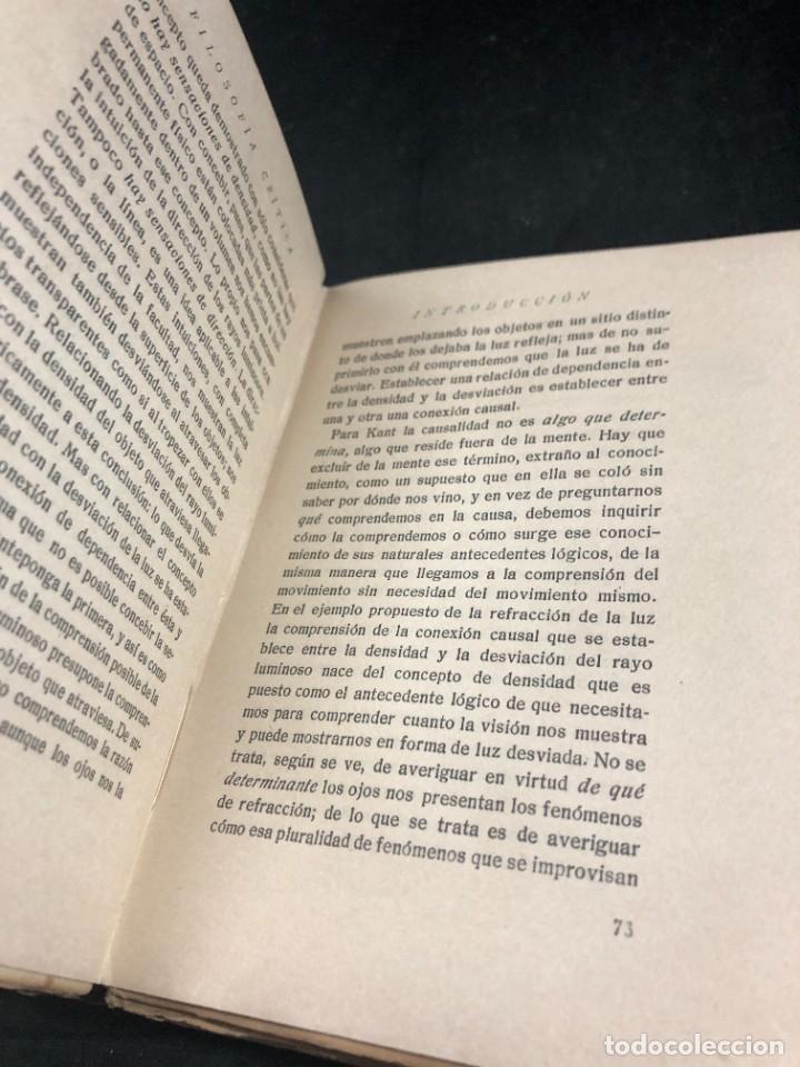 Libros antiguos: FILOSOFIA CRITICA. Dr. R. TURRO. PRIMERA EDICION CASTELLANA 1919 - Foto 8 - 270931483