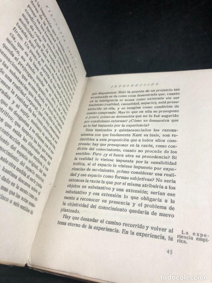 Libros antiguos: FILOSOFIA CRITICA. Dr. R. TURRO. PRIMERA EDICION CASTELLANA 1919 - Foto 10 - 270931483
