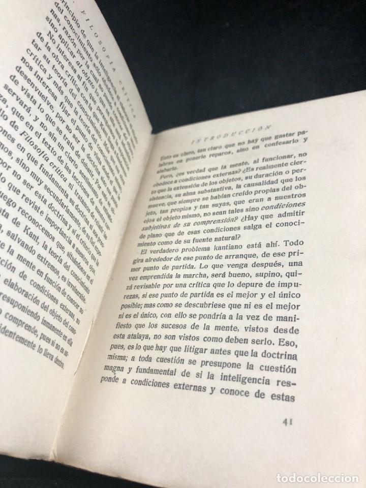 Libros antiguos: FILOSOFIA CRITICA. Dr. R. TURRO. PRIMERA EDICION CASTELLANA 1919 - Foto 11 - 270931483
