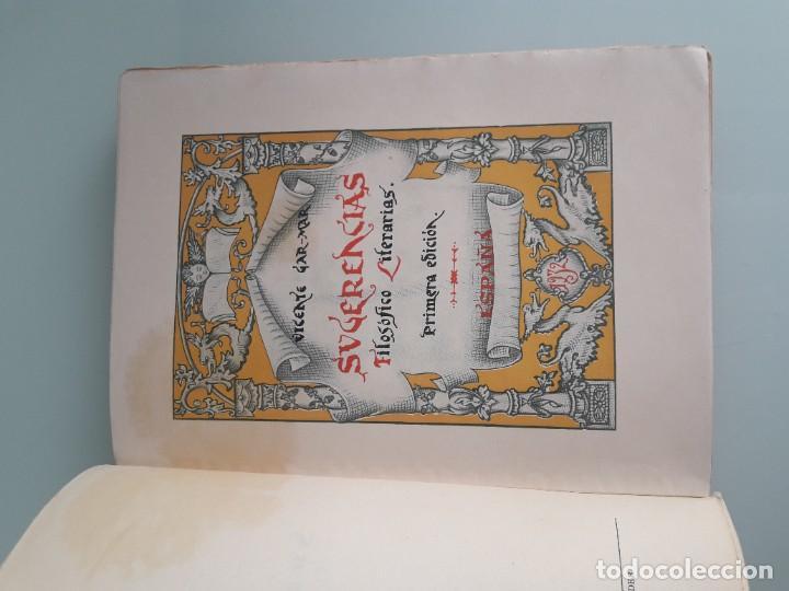 Libros antiguos: SUGERENCIAS FILOSÓFICO-LITERARIAS - VICENTE GAR-MAR - PRIMERA EDICIÓN 1932 - 2 TOMOS - Foto 4 - 270934298