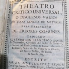 Libros antiguos: TEATRO CRÍTICO UNIVERSAL. FEIJOO. TOMO SÉPTIMO. 1755. Lote 275586618