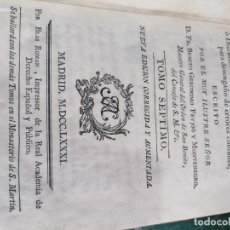 Libros antiguos: TEATRO CRÍTICO UNIVERSAL. FEIJOO. TOMO SÉPTIMO. 1781. Lote 275588618
