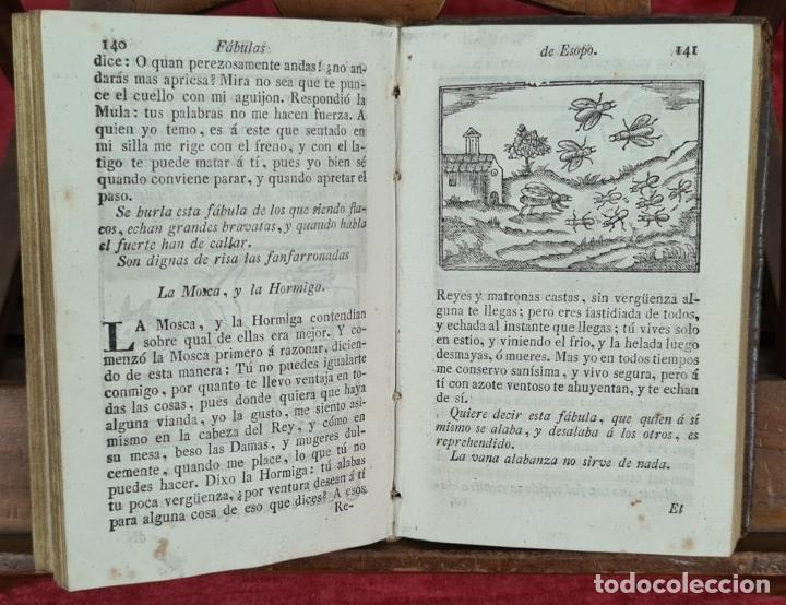 Libros antiguos: FABULAS DE ESOPO. FILOSOFO MORAL Y OTROS AUTORES. IMP. SIERRA Y MARTÍ. 1815. - Foto 3 - 276254713