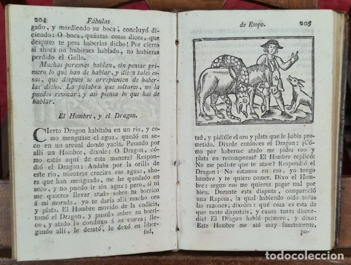 Libros antiguos: FABULAS DE ESOPO. FILOSOFO MORAL Y OTROS AUTORES. IMP. SIERRA Y MARTÍ. 1815. - Foto 4 - 276254713