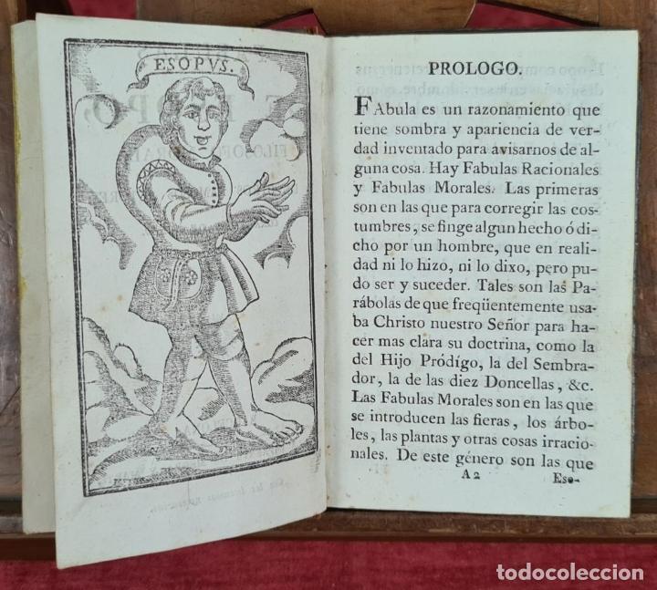 Libros antiguos: FABULAS DE ESOPO. FILOSOFO MORAL Y OTROS AUTORES. IMP. SIERRA Y MARTÍ. 1815. - Foto 5 - 276254713