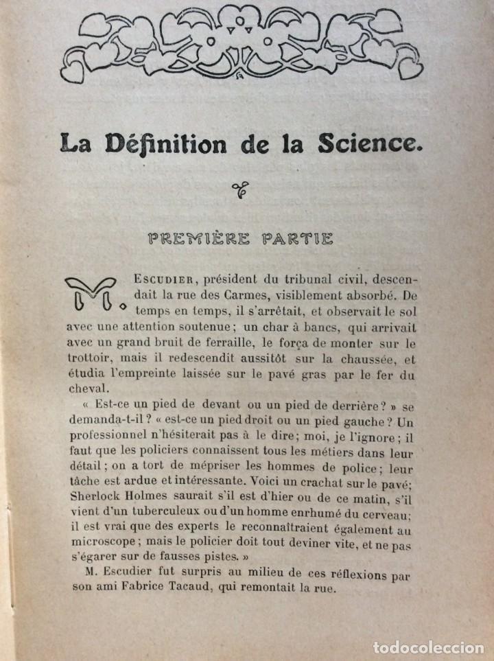 Libros antiguos: La definition de la science : entretiens philosophiques. Félix Le Dantec, 1908. 1.ª edición. - Foto 4 - 276435773